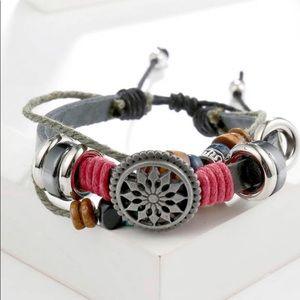 Colorful Corded Bracelet & Charm